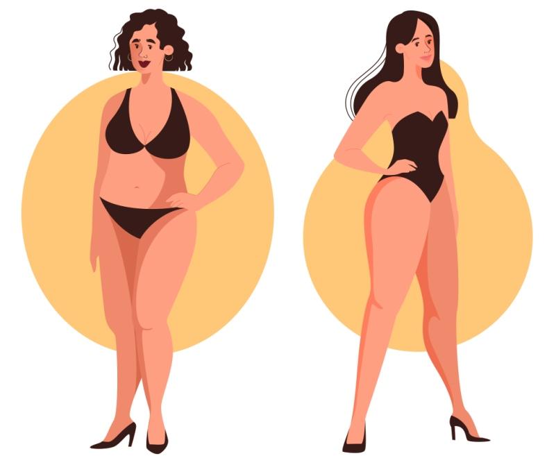 ожирение женщин по типу яблоко груша
